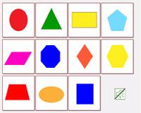 """Интерактивные звуковые карточки """"Плоские фигуры по английски"""""""