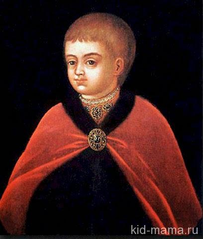 Портрет царевича Петра Алексеевича