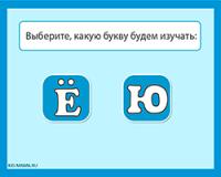 Буквы «Ё» и «Ю» и их звуки — обучающая игра по русскому языку