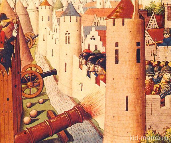 Осада-Орлеана-войском-Жанны.Миниатюра-XV-века
