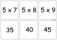 карточка таблица умножения на 5