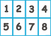 Карточки - Числа от 1 до 100 - распечатать