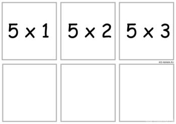"Карточки ""Таблица умножения"" комплект №2"