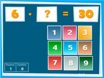 Таблица умножения. Уравнения
